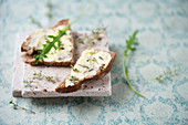 Thyme butter on farmhouse bread
