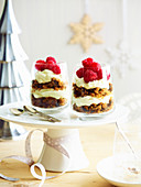 Christmas Fruit Cake Cream Parfaits