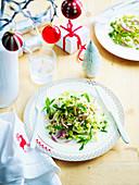 Christmas Pork Salad with Chilli Plum Dressing