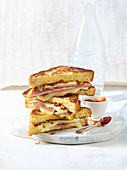 Monte Cristo (French toast with ham and cheese)