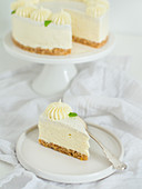 Cheesecake with white chocolate cream
