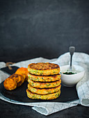 Vegetables and feta cheese fritters