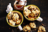 Australian Christmas cookies with cornflakes, macadamia, chocolate and sultanas