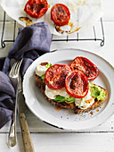 Toast with Avocado, Tahini and Sumac Tomatoes