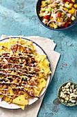 Tortilla Chips mit Bohnenmus