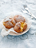 Choux Puffs with vanilla cream