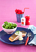 Gluten-free Salmon with Creamy Dill Sauce