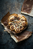 Vegan puff pastry filled with nougat and peanut butter