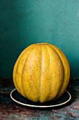 Reife gelbe Melone