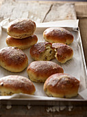 Maritozzi (sweet buns with anise liqueur, Italy)