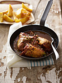 Gallina 'mbriaca (chicken in red wine, Italy)