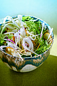 Fennel salad with yellow zucchini