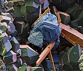 Matildit, Grube Clara 160x - Matildit-Kristall, 160:1
