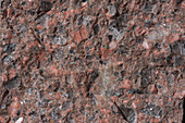 Quarzporphyr Eggental 95-1 Bruch - Rhyolith, Bruchfläche, 4:1