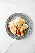 Vegetarian sauerkraut quesadillas