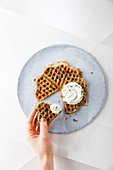 Jerusalem artichoke waffles