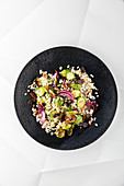Brussels sprout salad with pearl barley