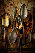 Food art: vintage spoons (inspired by Rubens)