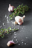 Garlic, thyme and seasalt