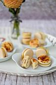 Macarons with creme brulee