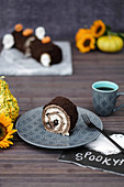 Oreo chocolate roll for Halloween