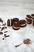 Chocolate and vanilla whoopie pies