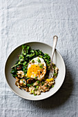 Savory Oats with Egg and Greens