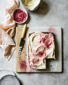Red Velvet Beet Sheet Cake with Cream Cheese Frosting and Beet Powder