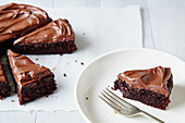 Schokoladenkuchen mit Schokoladenfrosting