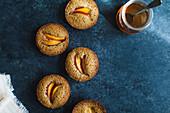 Financier muffins with nectarine (France)