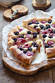 Blackberries and Rasperries Brioche Galette