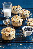 Granola Muffin with Blueberries
