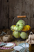 Green Tomatoes in a Basket