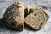 Spelt Rye Crusty Overnight Bread