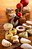 Various Christmas cookies from Austria
