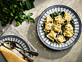 Agnolotti with herbs and parmesan