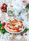 Paris brest with strawberries