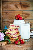 Strawberry squares