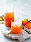 Sunny orange and carrot juice