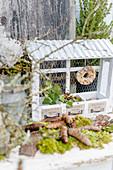 Vogelfutter - Futterstation mit Meisenring