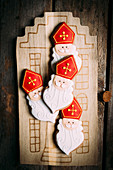 Sinterklaas, 5 december, a Dutch tradition, royal icing cookies
