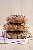 Stacked wholegrain bread