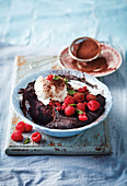 Espresso saucy chocolate pudding (England)
