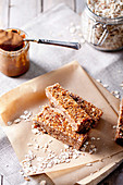 Peanut butter and oatmeal granola bars