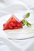 A summer strawberry terrine