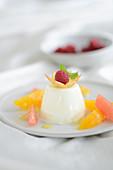 Panna cotta with fruit