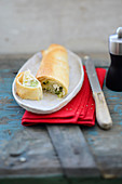 Greek zucchini strudel with feta cheese