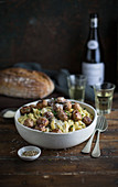 Pasta with pork meatballs