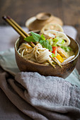 Spicy noodle salad with bamboo shoots (Asia)