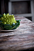 Romanesco on table